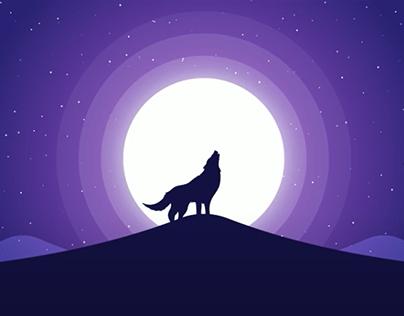 Moonlight Background Illustration