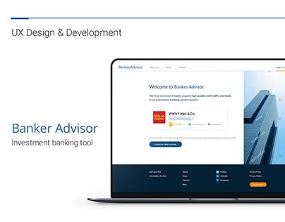 Banker Advisor UX Design & Development