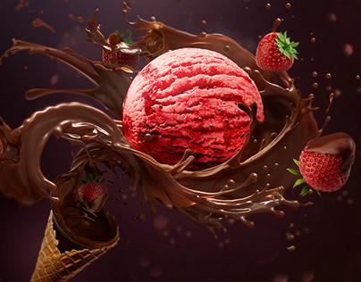 Key Visual «Strawberry ice cream»