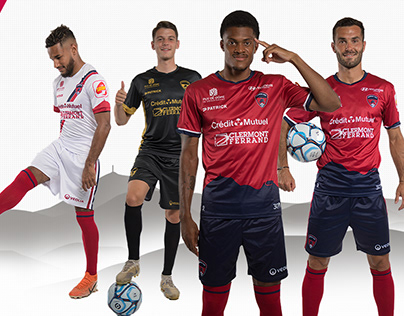 Clermont Foot 63 - Ligue 2 - Maillots saison 20-21