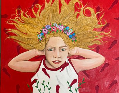 La Primavera acrilico su canvas 60x60