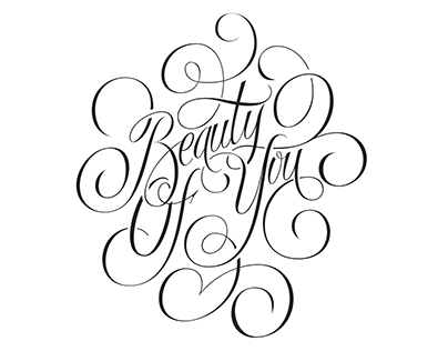 Beauty Of You - lettering project