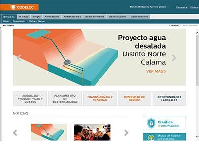Intranet Corporación del Cobre, Codelco Chile