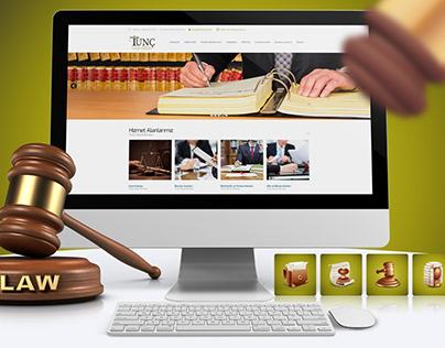 Tunç Hukuk Bürosu Web Sitesi Çalışması