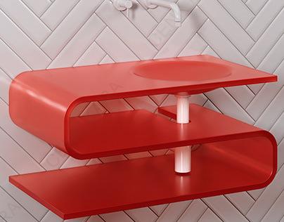 S Shape Sink Design
