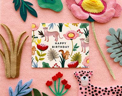 Animal Kingdom Birthday Card