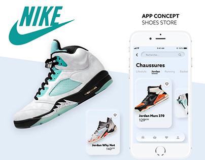 App Concept Nike Neumorphism UX/UI
