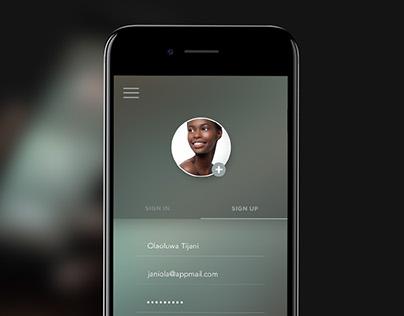 SignUp Form - Mobile UI