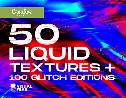 50 Liquid and Glitch textures