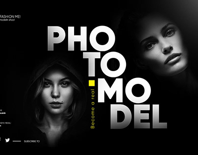 The first screen of branding for photomodels