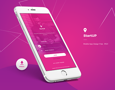 Free .PSD Mobile App Login Screen