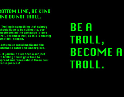 Be a troll become a troll campaign