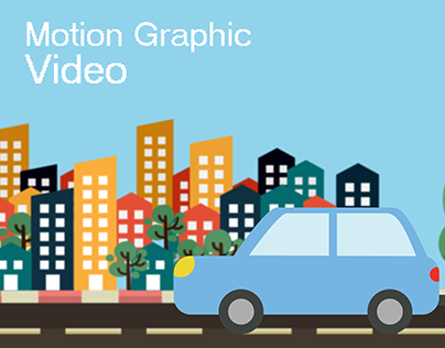 Moving Car - Motion Graphic Video