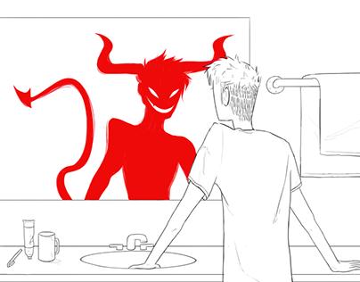 Monster Among Men - 5SOS Song Illustration
