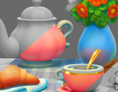 Test task Overpainting 3d model for casual games