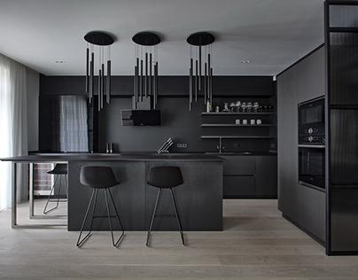 Kitchen Black Cement by Anova
