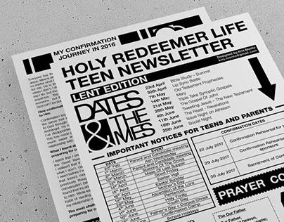 Editorial Design: Lifeteen Newsletter