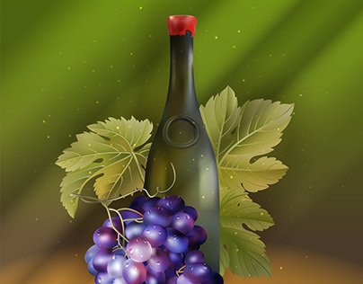 Vector Wine & Grapes