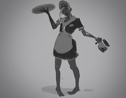 Zombie-waitress