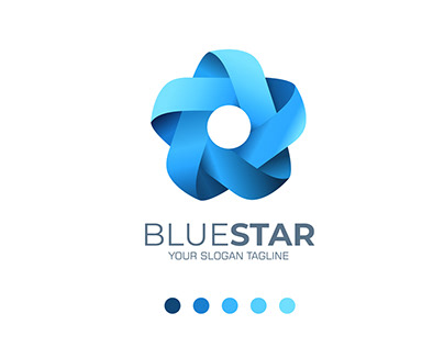 Infinite Ribbon Blue Star Logo