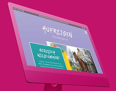 Hufreisen - Ferne Welten ganz nah (Web Design)