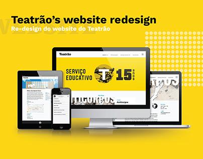 Teatrão's Website Redesign