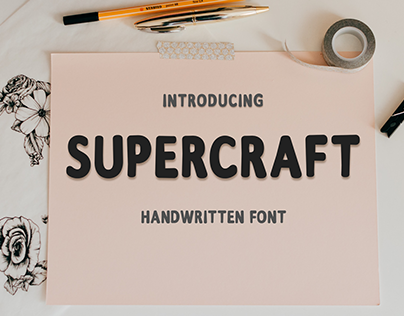 Supercraft - Font Handwritten Sans Serif