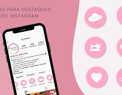 Capas para destaque do Instagram - Cliente Massarte