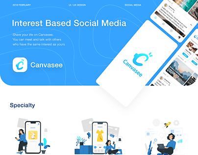 Canvasee - Interest Based Social Media - UI/UX Design