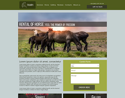 Site card to hire horses. The design of the tiles have