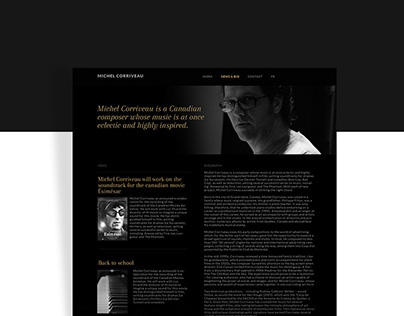 Michel Corriveau - Site web