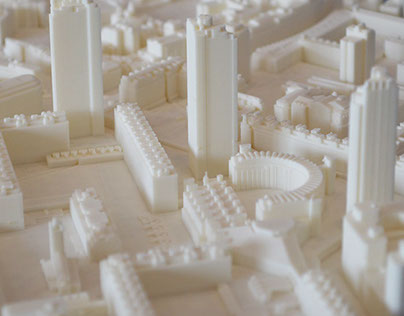 3D Printed Architectural London City Model