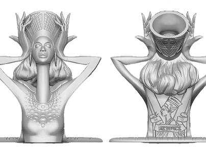 3D Printed AFRO-FUTURISTIC Figurines