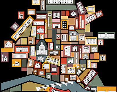 PAVIA MAP - MAPPA PAVIA città fantastica