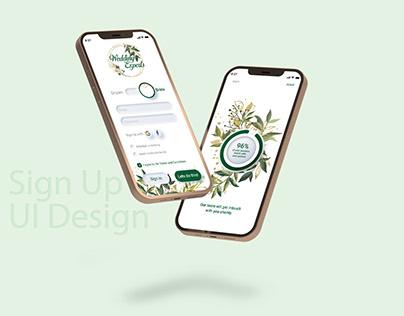 Wedding Planners' App - Daily UI Challenge - 001