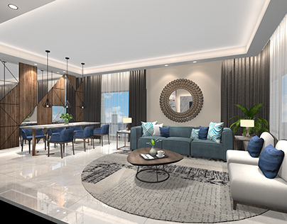 Living Area - draft render