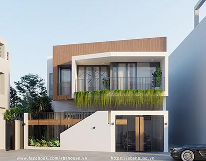 Mẫu nhà phố 2 tầng đẹp với thiết kế rất hiện đại