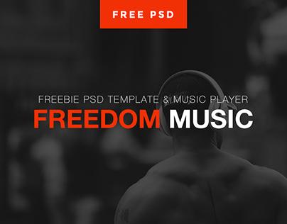Freedom music / Music player / FREE PSD
