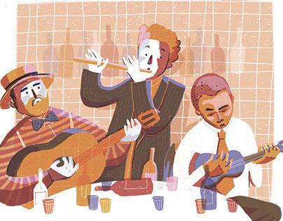 Chorinho musicians (inspired by Noel Rosa)
