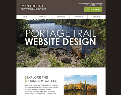 Portage Trail Outfitters and Resort Website