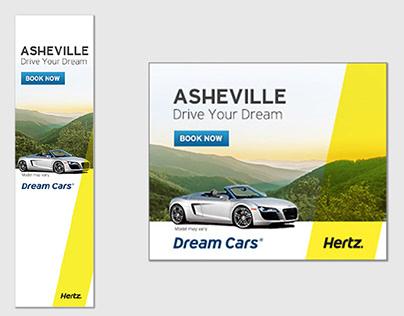 Hertz and Firefly branded web ads