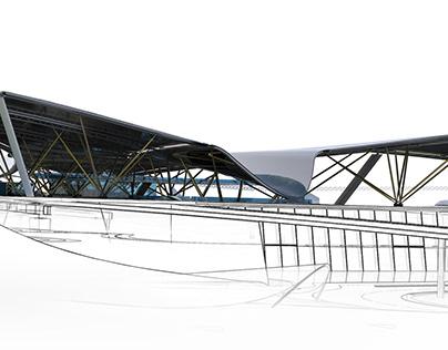Architectural Design Concept / Airport Ashgabat