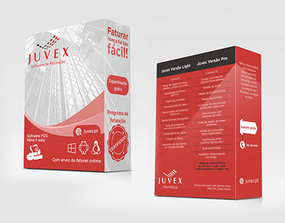 Protótipo de embalagem Juvex Informática