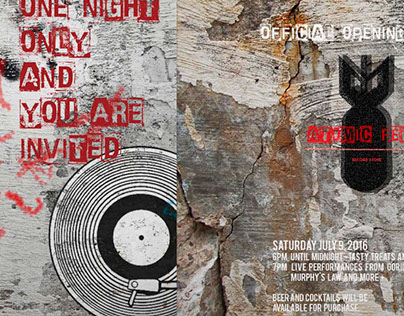 The Atomic Fern Record Store Invitation