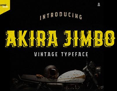Akira Jimbo Vintage Font