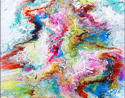 Abstrakte Gemälde von Künstler Michael Lönfeldt