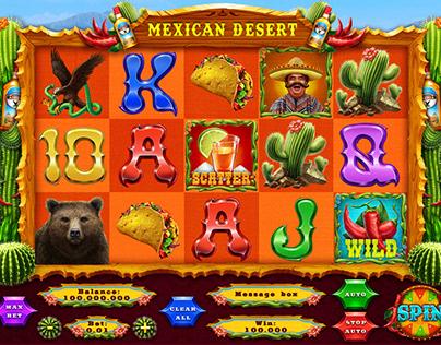 "Online slot machine – ""Mexican Desert"""