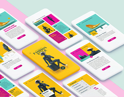 Interactive Mobile Template for InDesign