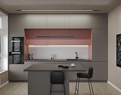 Кухня-гостиная, 35м2, Киев Studio, 35sq.m., Kyiv