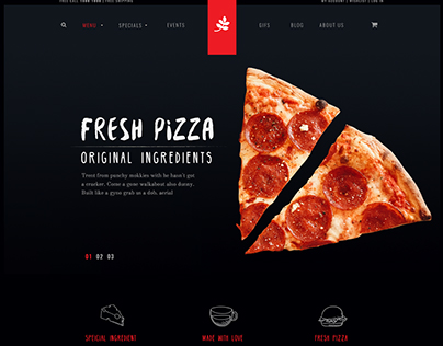 pizzza - a pizza and pasta restaurant website concept